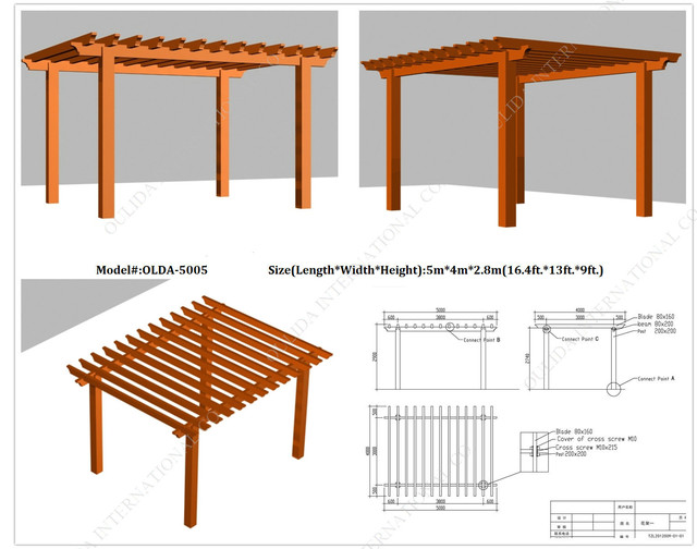 OLDA-5005 Waterproof Pergola 16.4ft.*13ft.*9ft. - other metro - by Oulida International Co.,Limited