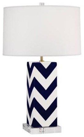 Mary McDonald Chevron Stripe Table Lamp modern table lamps
