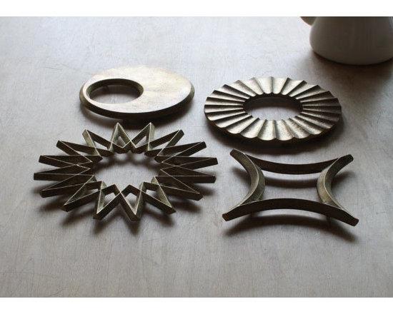 Brass pot rests -