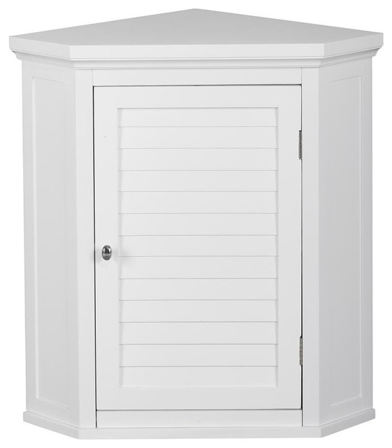 corner wall cabinet with 1 shutter door transitional medicine cabinets