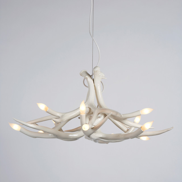 Roll & Hill Superordinate Antler Chandelier - 6 Antlers - Modern - Chandeliers - by Switch Modern
