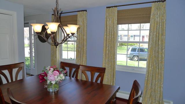 Draperies and natural shades traditional-curtains