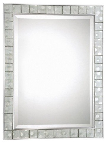 Quoizel Vetreo Sphere Mirror - 24.5W x 32H in. contemporary-mirrors