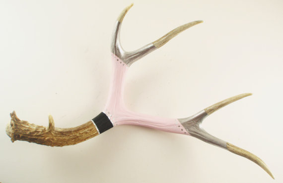 Large Deer Antler Art Scuplture Painted by Maya Jade Creations eclectic accessories and decor