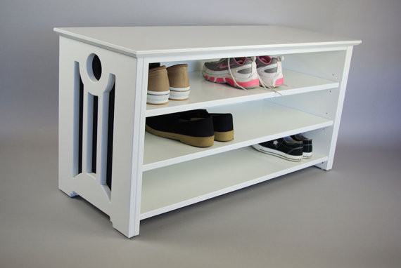 Mac Shoe or Boot Storage Bench by Woodistry traditional-clothes-and-shoes-organizers