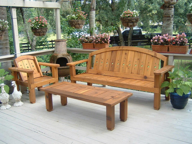 western red cedar patio set outdoor benches orlando