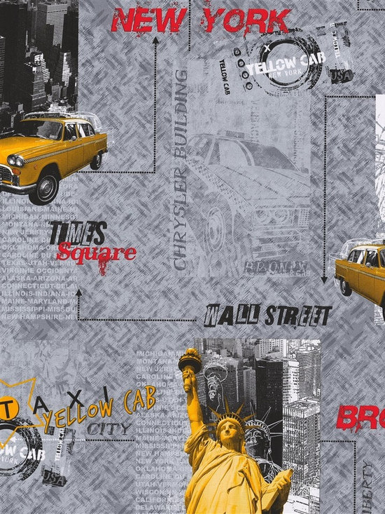 Metropolis - Ideal for an accent wall, this wallpaper adds the perfect touch of style that any New Yorker would love!