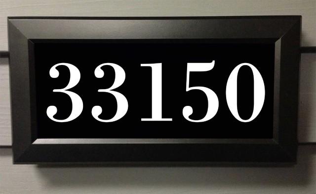 Address LED lighted address signs - illuminated address panel -outdoor ...