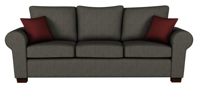 704 Queen Sleeper, Radar Ash Grey, Stanton Memory Foam Premium Mattress transitional-futons