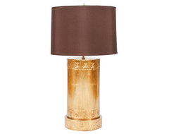 Cyprus Gold Leaf Tole Lamp eclectic table lamps