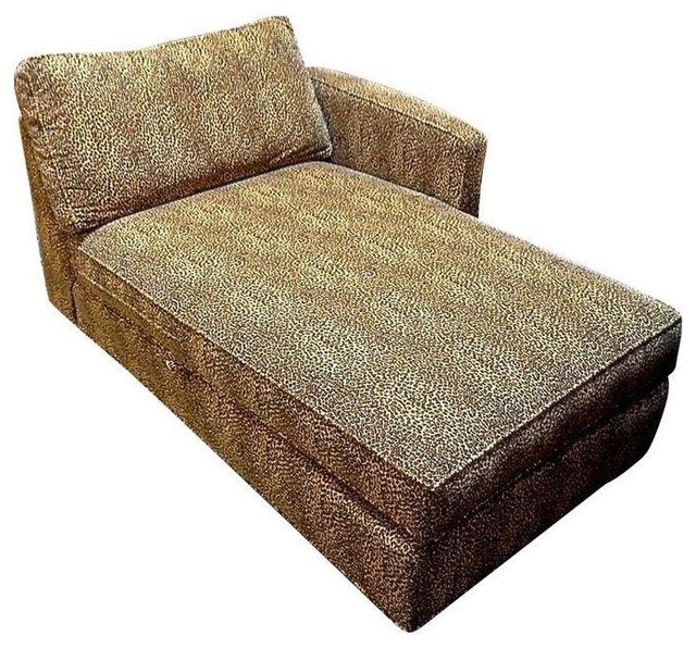 Ethan Allen Upholstered Chaise Lounges - A Pair - Contemporary - Indoor Chaise Lounge Chairs ...