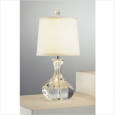 Robert Abbey Brigette Mini Table Lamp In Lead Crystal With