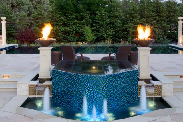 360 vanishing edge spa contemporary-pool