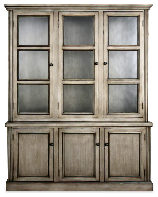 Miranda Bookcase with Seeded Glass - Traditional ...