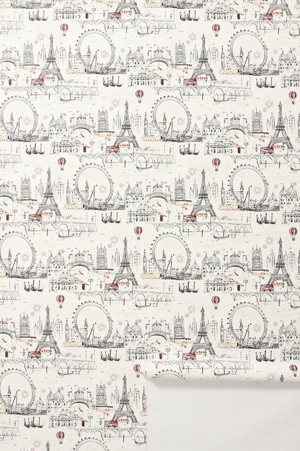 Cest Magnifique Wallpaper  - Anthropologie.com eclectic wallpaper