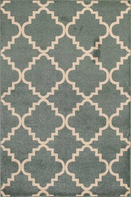 "Veranda Taza Light Blue/Bone Area Rug (7'10"" x 9'10"") contemporary-rugs"