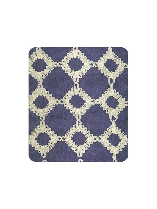 Keswick Ribbion Fabric, Porcelain -