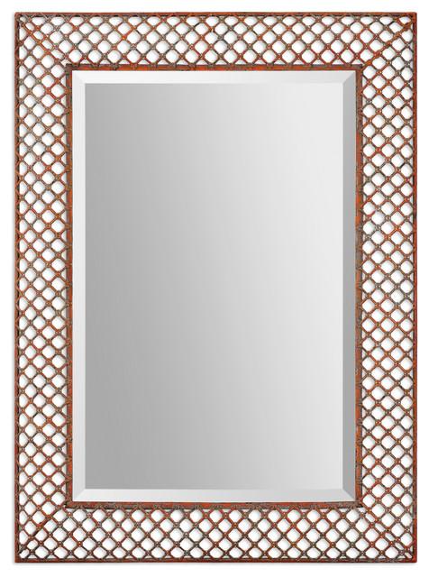 Treillis Metal Mirror traditional-mirrors