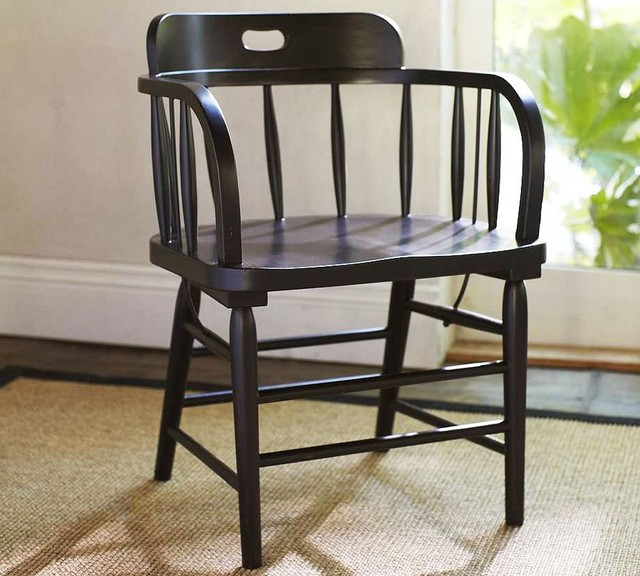 Captain's Armchair - Pottery Barn traditional-dining-chairs