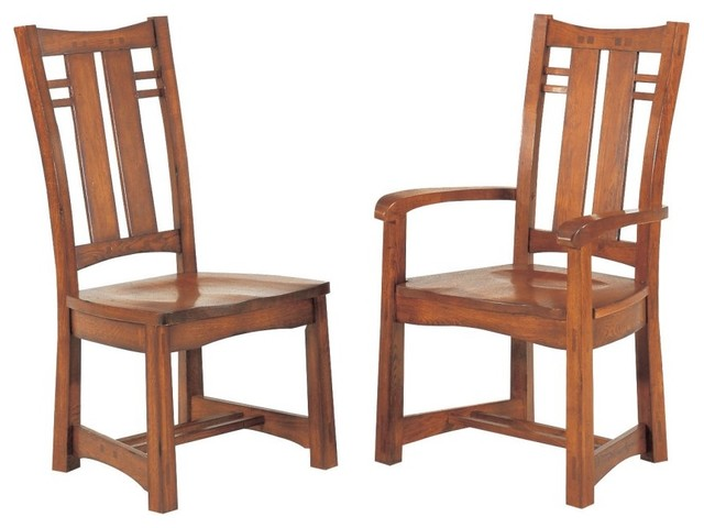 Gs Furniture Bungalow Wood Dining Arm Chair Set Of 2
