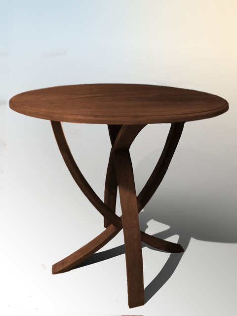 Solid Maple Round Table 32 Traditional Dining Tables