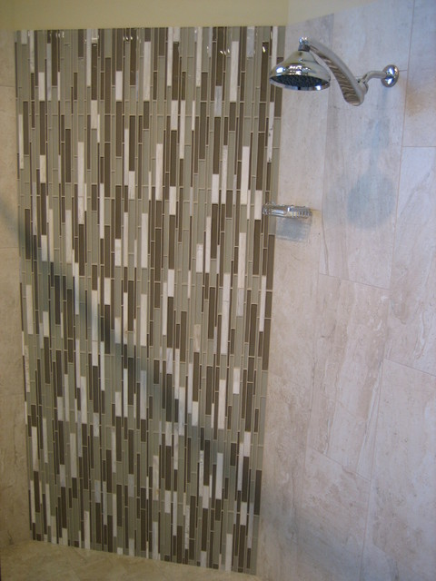 Tile Works Maple Grove : Ike glass stone mosaic asian white contemporary