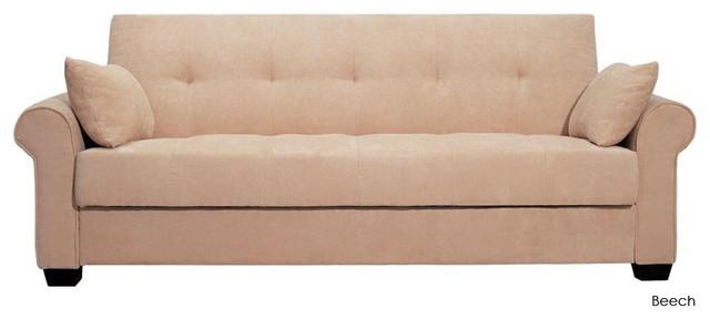Roxbury Convertible Sofa Bed Beech Modern Futons By