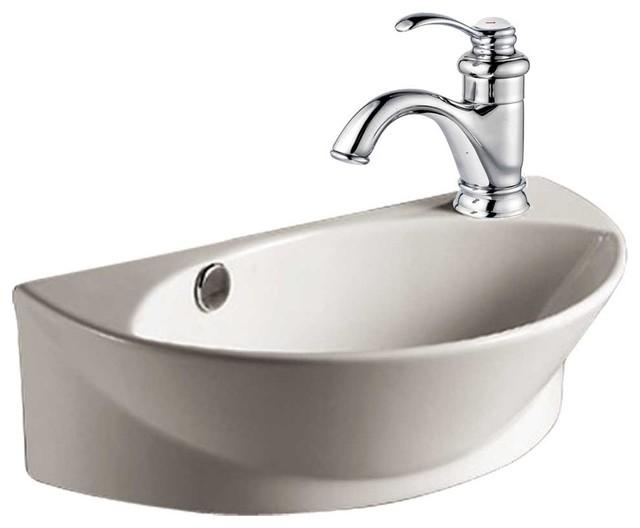 Small Wall Mount Bathroom Sink : ... Sinks Small Semi Arc White Vitreous Wall Mount Sink modern-bathroom