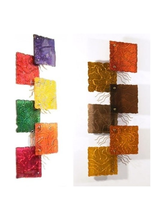 Art & Accessories - The colors can represent moods and seasons of your room like these wall sculptures, Summer & Fall.