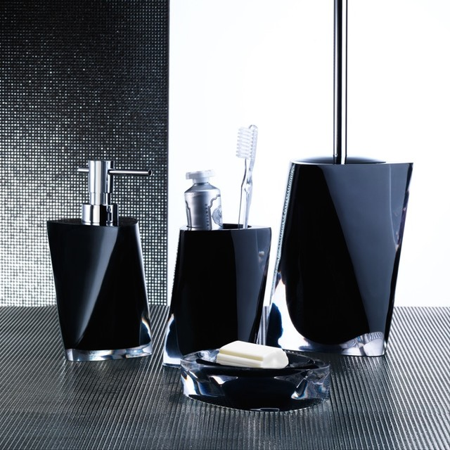 Twist black bathroom accessories contemporary bathroom for Contemporary bathroom accessories