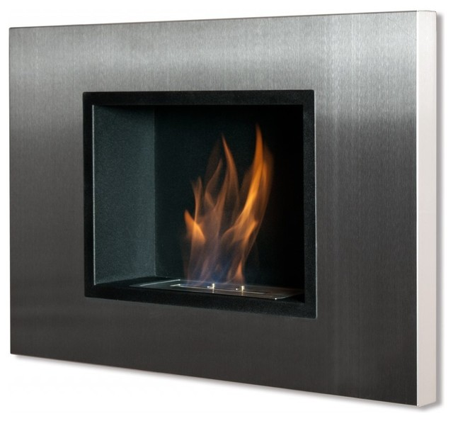 Wall mount ventless ethanol fireplace quadra - Contemporary fireplaces wall mounted ...