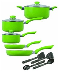 Griffith 12pc Cookware GREEN