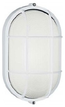 Large Oval Outdoor Bulk Head Wall or Ceiling Mounted Lantern with Guard modern-lighting