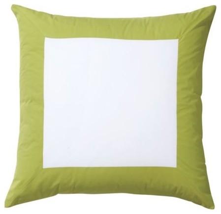 Lime Color Frame Euro Sham traditional-pillowcases-and-shams