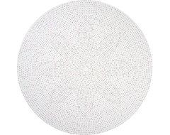 Multicolor Dot Round Linen Tablecloth contemporary-tablecloths