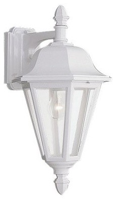 Sea Gull Brentwood Outdoor Hanging Wall Lantern - 18H in. White modern-ceiling-lighting