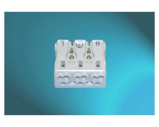 Pushwire Terminal Blocks (3Pole-White) -