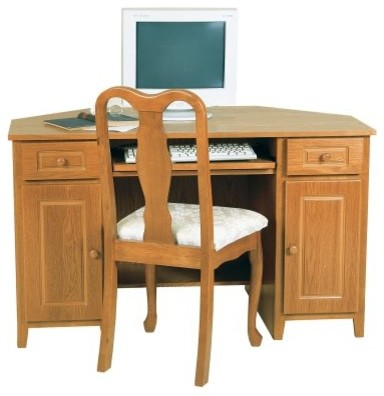 Passport corner computer desk with optional hutch and chair oak modern desks and hutches - Corner secretary desk with hutch ...