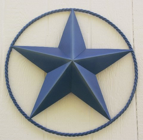 Texas Western Metal Barn Stars, 24 Inch Heavy Duty With Twisted Rope traditional accessories and decor
