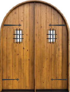 Knotty Alder Round Top Exterior Door traditional front doors