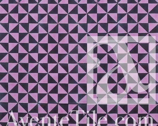 "Geometric Geo 09 Cement Tile 8"" x 8"" -"
