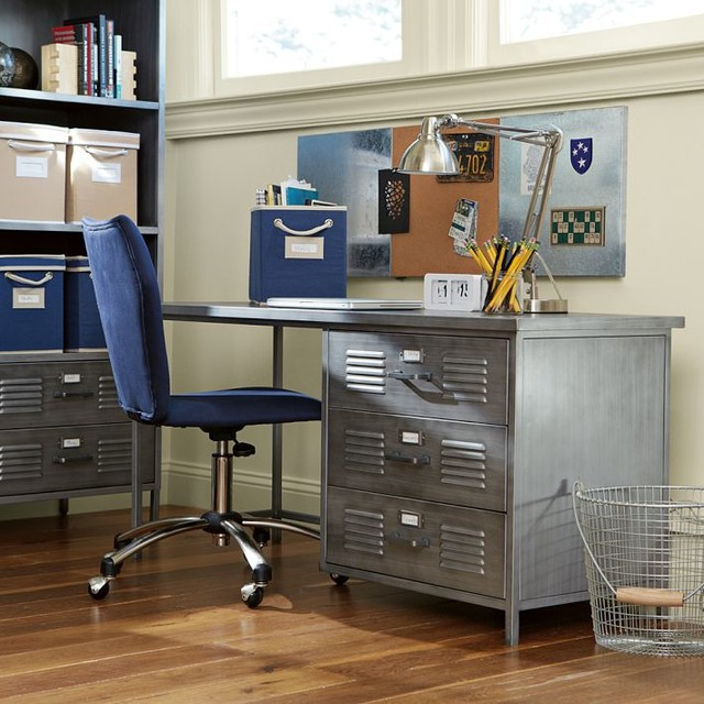 Locker Desk Industrial Desks And Hutches By PBteen