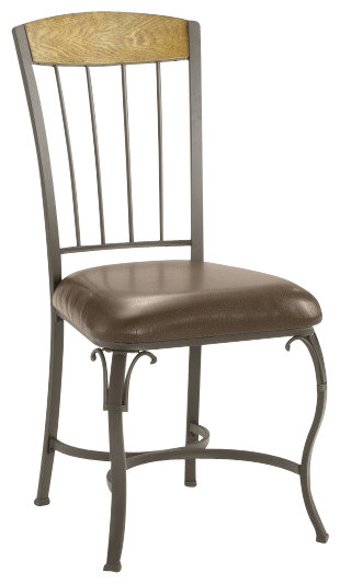 Hillsdale Lakeview Side Chair with Wood Panel in Top (Set of 2) traditional-dining-chairs