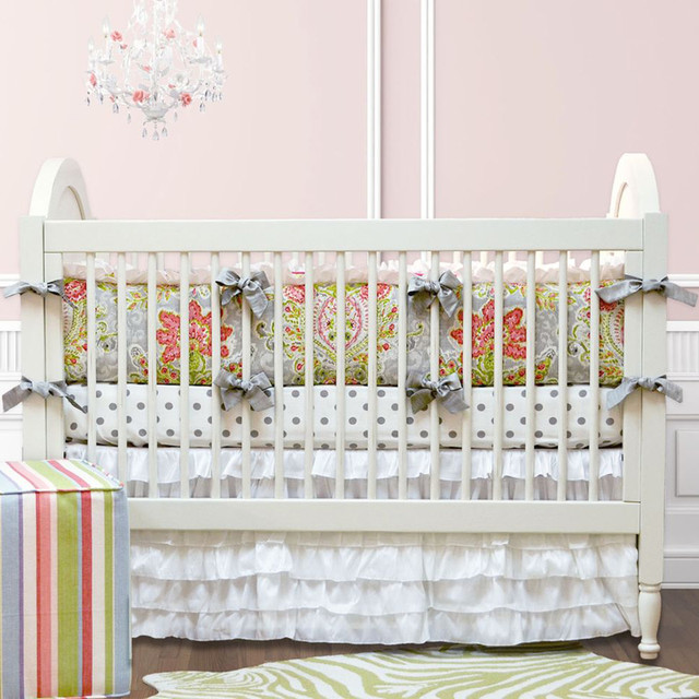 April showers crib bedding set modern baby bedding by rosenberry rooms - Modern baby bedding sets ...