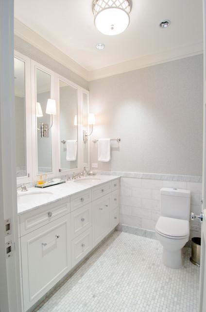 Tribeca Apartment transitional-bathroom