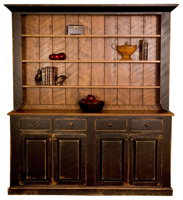 Designs In Wood Black Pine Rustic Country Hutch