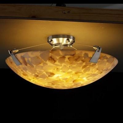 Justice Design Group Alabaster Rocks ALR-9632-35-NCKL 24 in. Semi-Flush Bowl wit modern-ceiling-lighting
