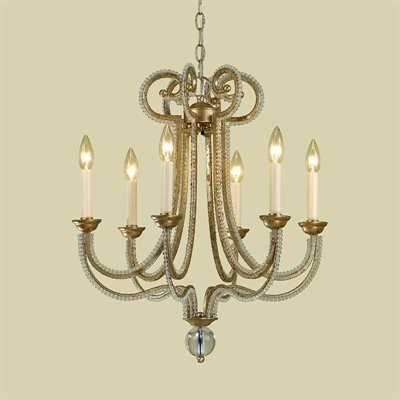 Candice Olson 6 Light Chandelier, Soft Gold contemporary chandeliers