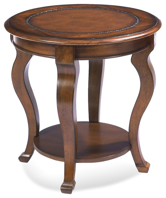 Pontevecchio round end table cameo legs traditional side tables and end tables by Traditional coffee tables and end tables
