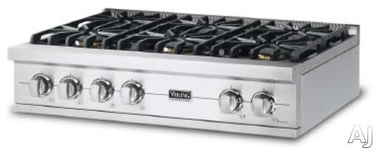 Viking 36 pro style gas rangetop with 6 sealed burners for Viking 36 electric cooktop